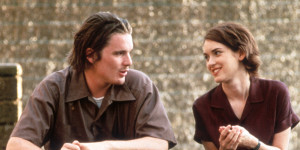 Ethan Hawke sits with Winona Ryder in a scene from the film 'Reality Bites', 1994. (Photo by Universal/Getty Images)